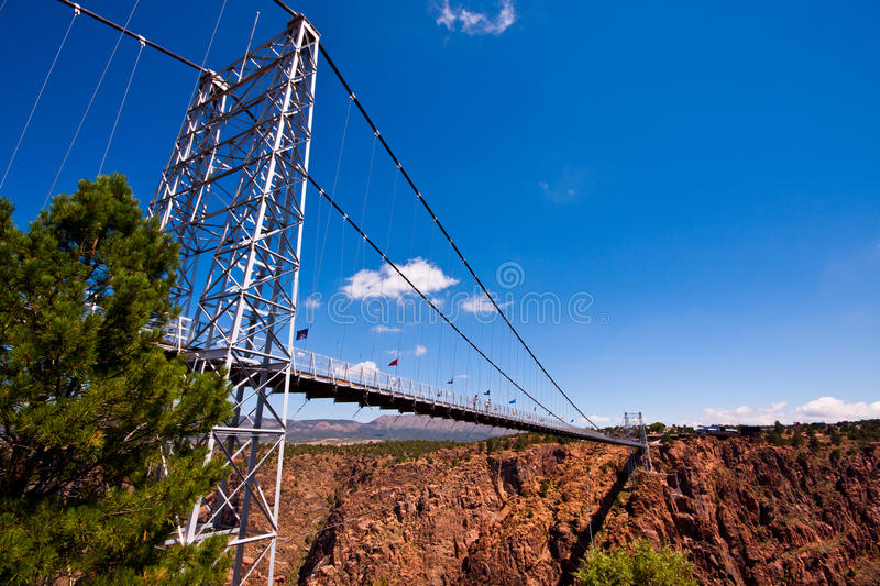 Royal Gorge Bridge. Royal gorge suspension bridge in sunny day royalty free stock image