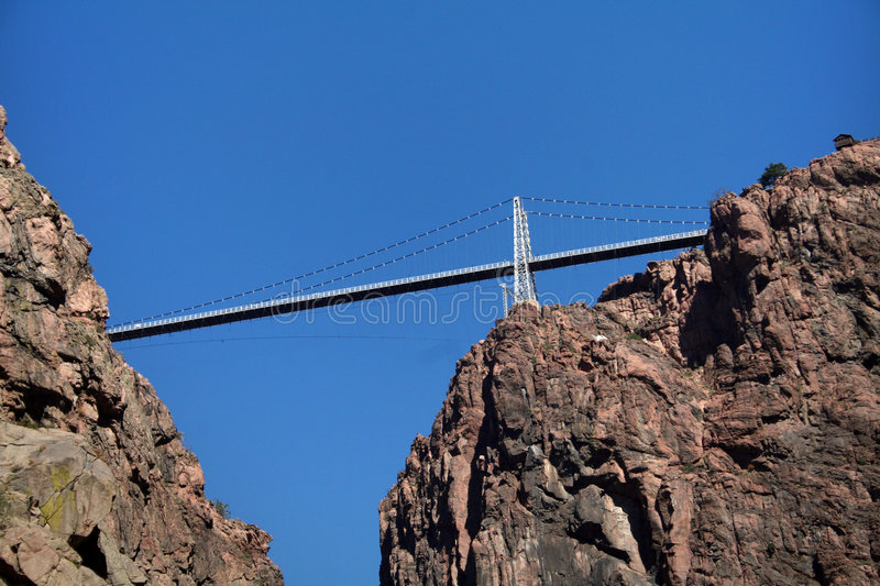 Royal Gorge Bridge. The Royal Gorge Bridge as seen from the bottom of the gorge royalty free stock image