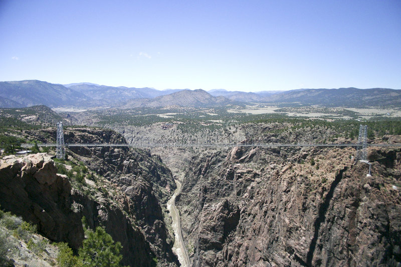 Royal Gorge bridge. Royal Gorge, the bigges suspension bridge on the world, Colorado, USA royalty free stock photo