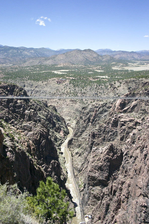 Royal Gorge bridge. Royal Gorge, the bigges suspension bridge on the world, Colorado, USA stock image