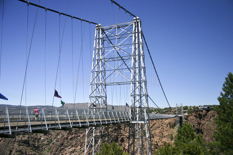 Royal Gorge bridge. Royal Gorge, the biggest suspension bridge on the world, Colorado, USA royalty free stock images