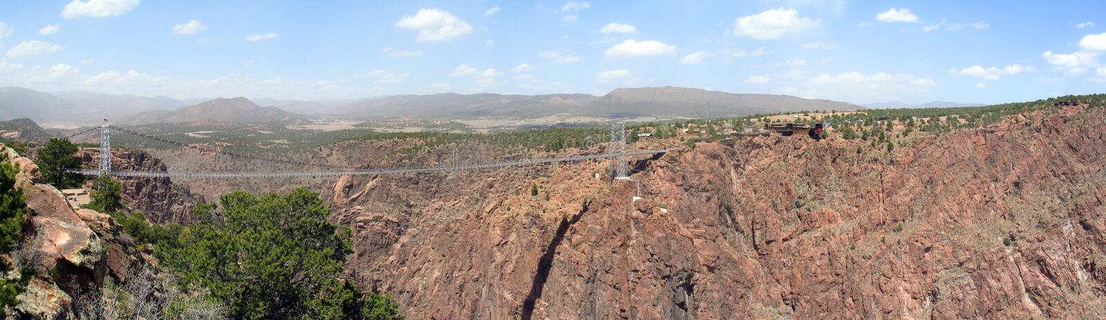 Royal Gorge Bridge. Hanging 1,053 feet above Colorados wild Arkansas River, the Royal Gorge Bridge is the world's highest suspension bridge and a legendary feat stock photo