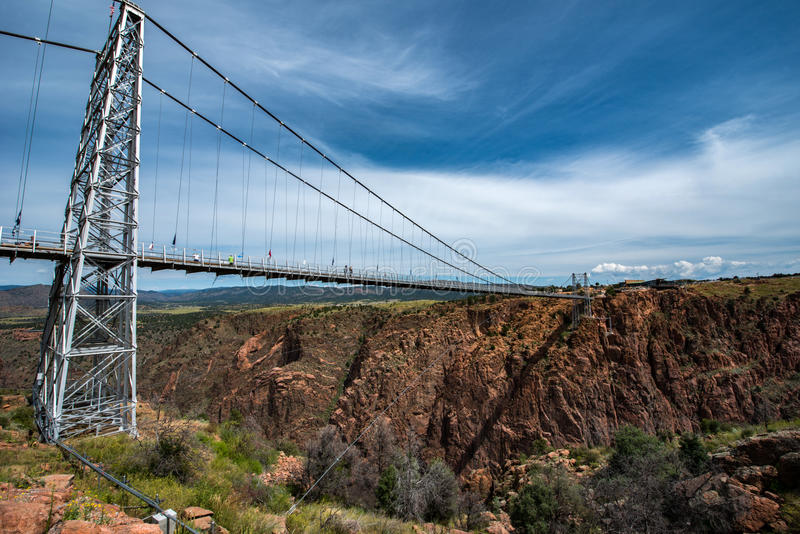Royal Gorge Bridge, Colorado. The higher bridge of USA royalty free stock photo