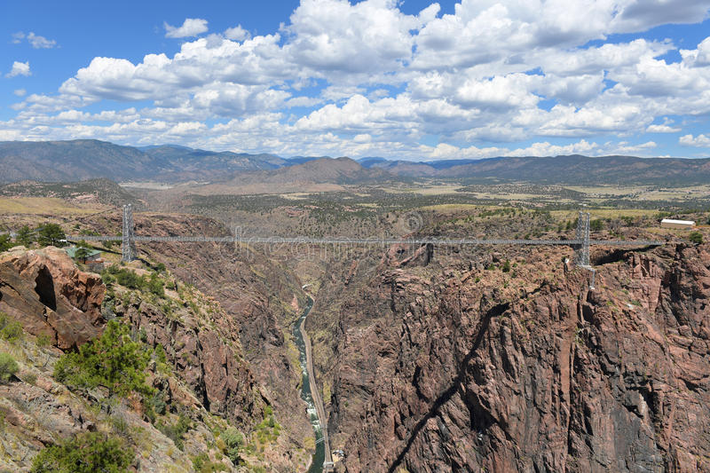 Royal Gorge Bridge in Colorado. Royal Gorge bridge over the Arkansas River in colorado stock photo