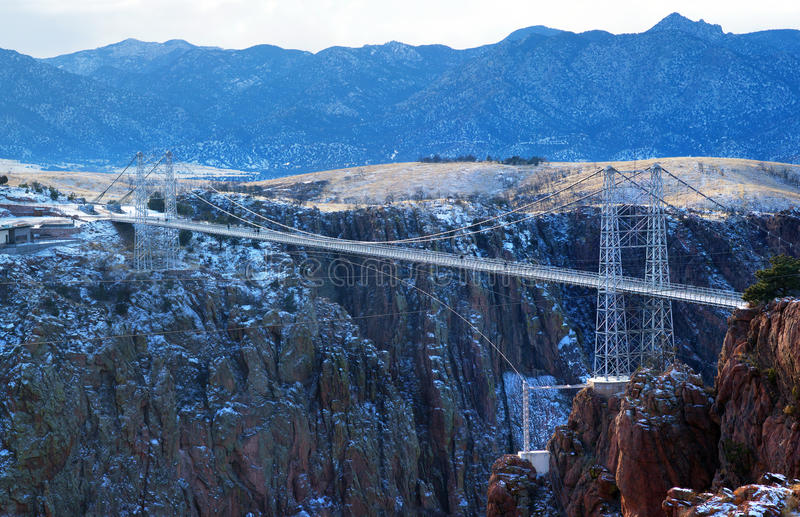 The Royal Gorge Bridge is a tourist attraction near Canon City,. Colorado. Record of highest bridge in the world stock photo