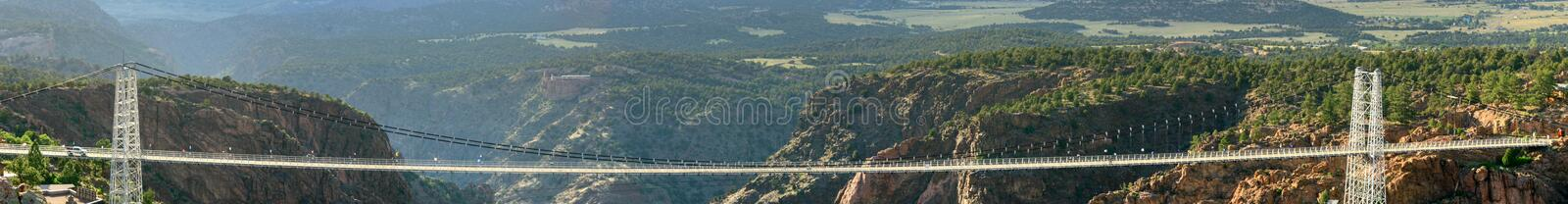 Royal Gorge Bridge. A view of the Royal Gorge Bridge stock photography