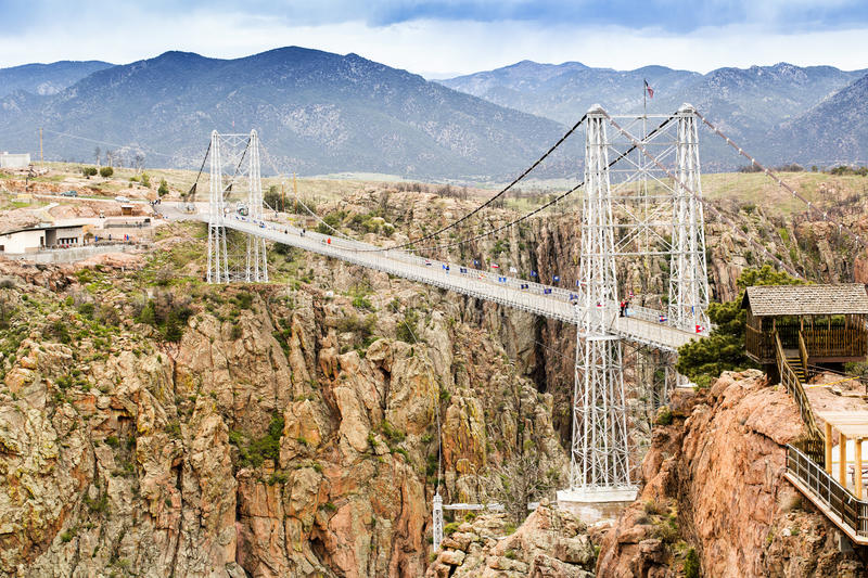Royal Gorge Suspension Bridge. Canon City, Colorado stock photos
