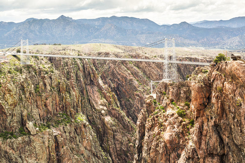 Royal Gorge Suspension Bridge. Canon City, Colorado royalty free stock photo