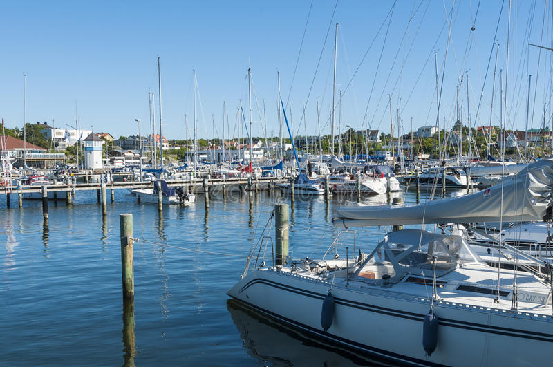 Royal Gothenburg Yacht Club Langedrag Sweden. Home port of GKSS, The Royal Gothenburg Yacht Club with clubhouse, restaurant and marina in Langedrag (Swedish: L royalty free stock photo