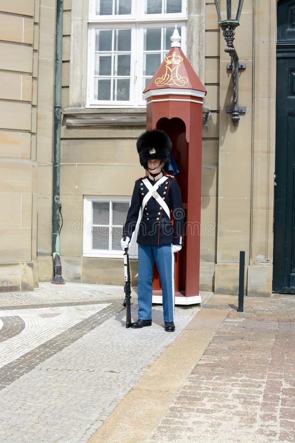 A Royal guard on duty, royalty free stock photography
