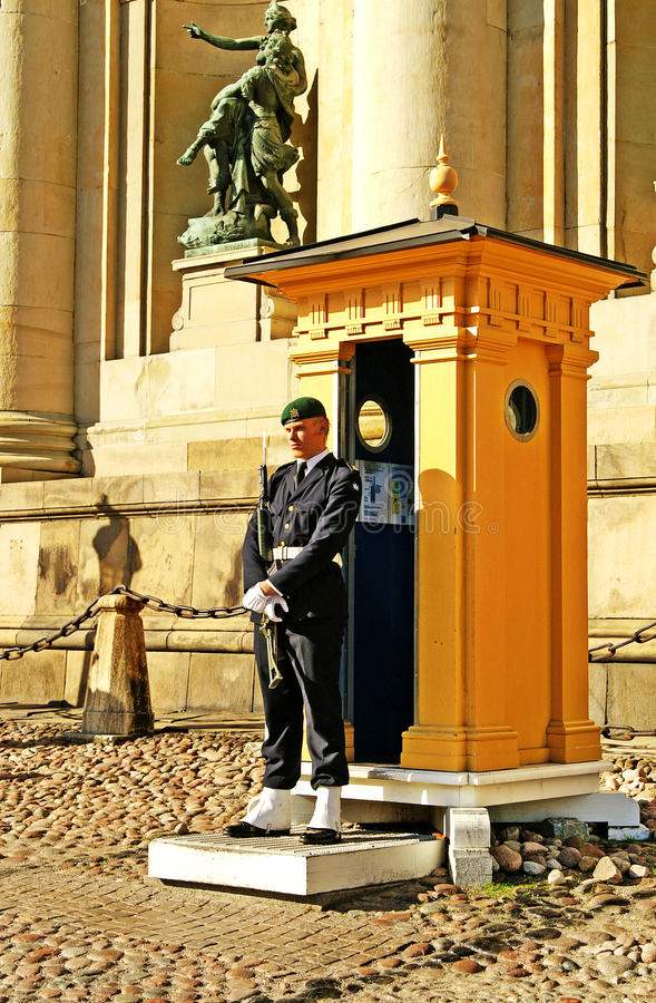 Royal Guard of Sweden stock images