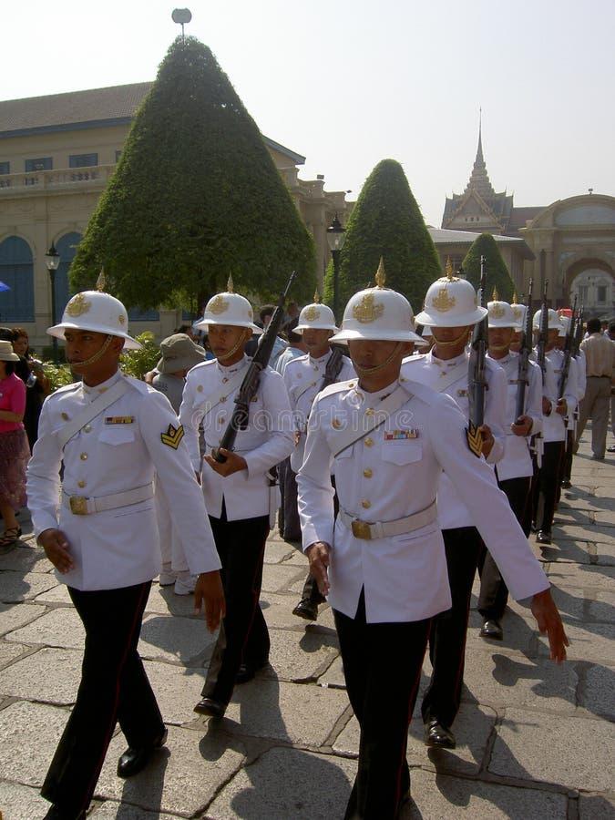 Royal guards, Bangkok, Thailand. stock images
