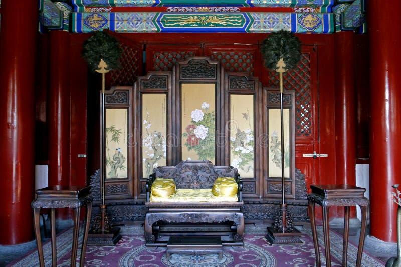 The royal hall of China stock photography