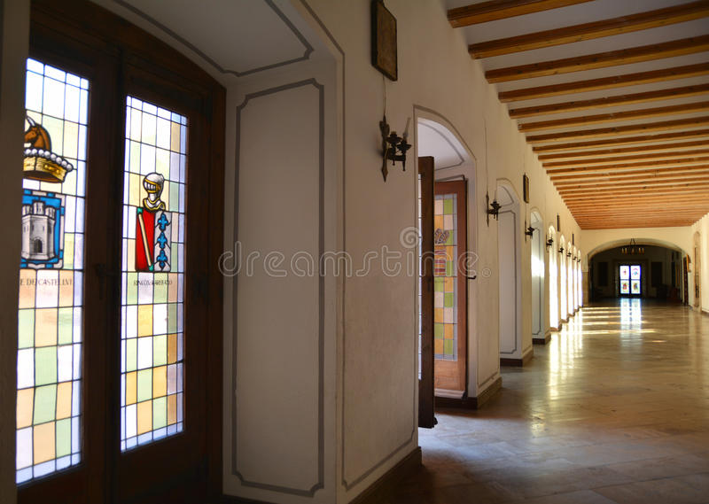 Royal Hall in Monastery of Saint Mary of El Puig, Spain stock images