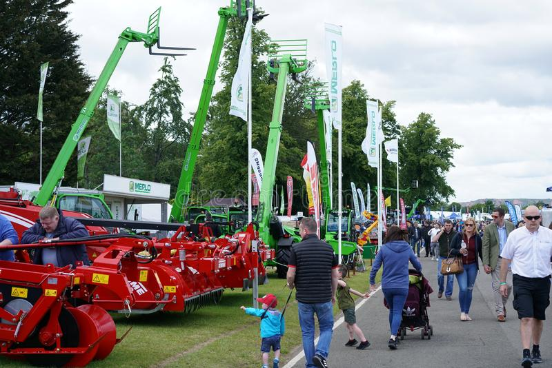 The Royal Highland Show 2019. General view of the Royal Highland Show 2019, held at the show ground at Ingleston, near Edinburgh, Scotland, in June 2019. The royalty free stock photo