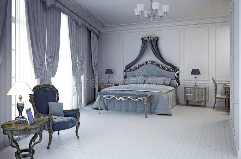 Royal hotel room in classic style royalty free stock photography