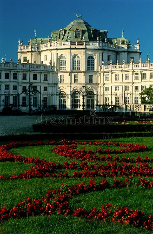 Royal hunting palace. Stupinigi royal hunting palace near Turin, Italy stock image