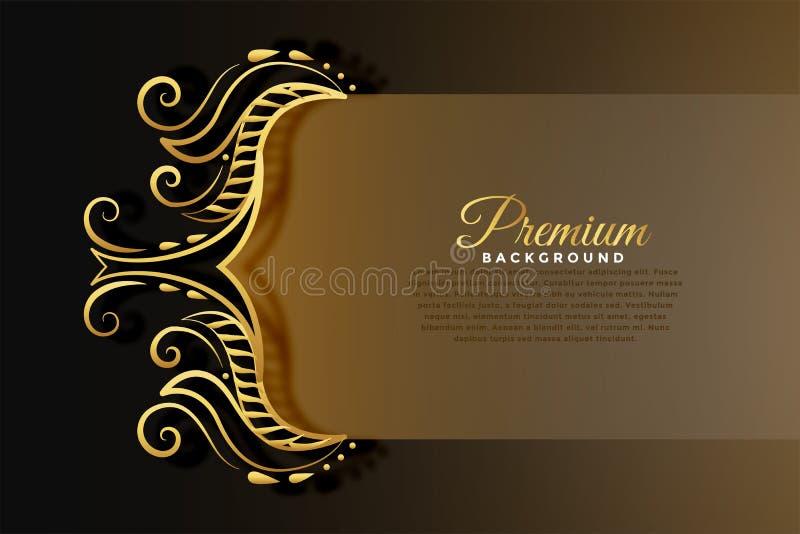 Royal invitation background in golden premium style stock illustration