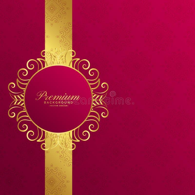 Royal invitation golden background design vector illustration