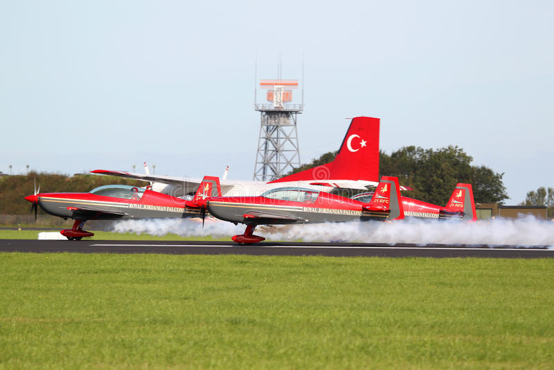 Royal Jordanian Falcons display royalty free stock images