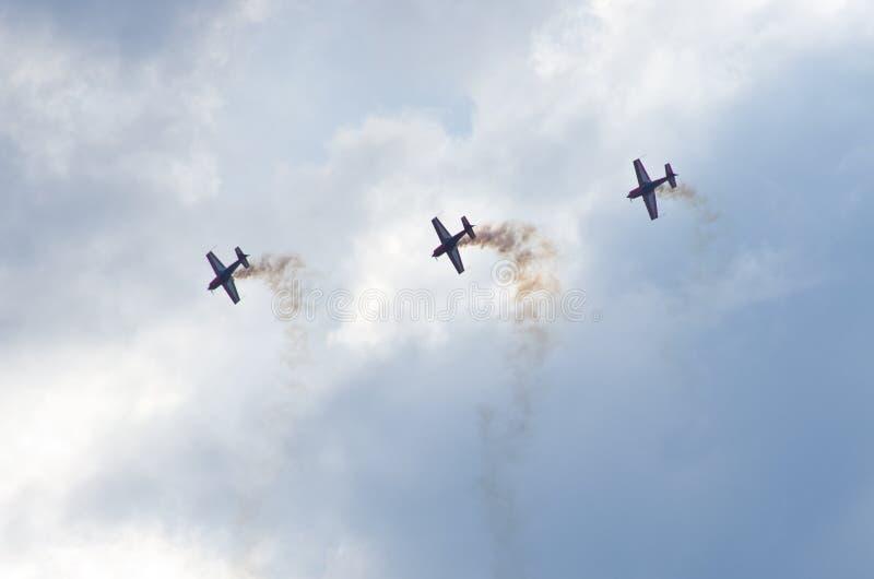 Royal Jordanian Falcons på Radom Airshow, Polen royaltyfria bilder