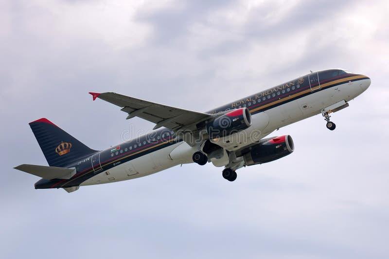 Royal Jordanian flygbuss A320 arkivfoto