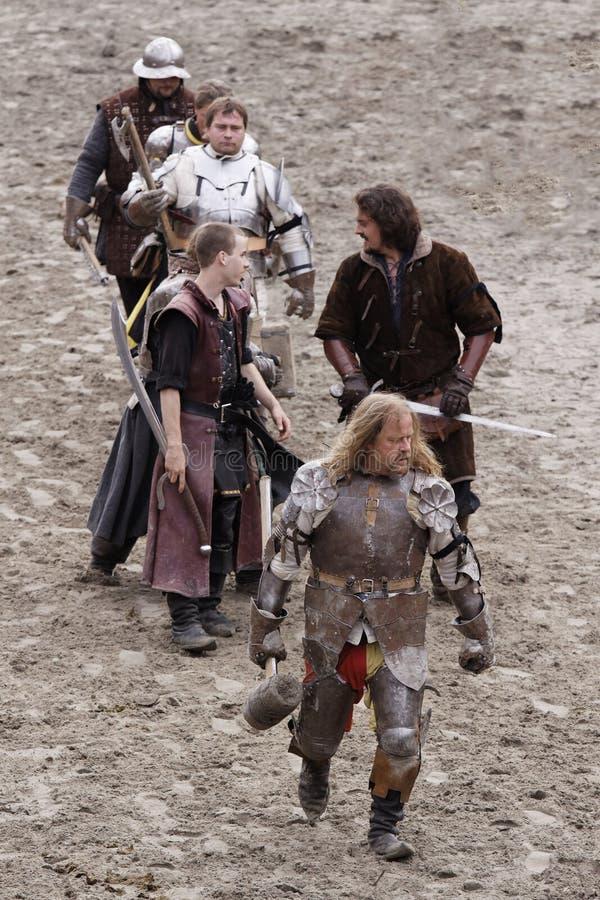 Royal knights. In armor.. Maximilian Ritterspiele Horb e.V. Neckar-Germany royalty free stock image