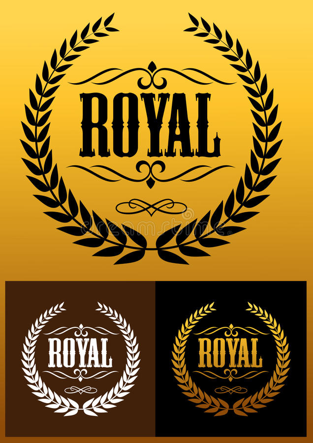 Royal laurel wreath icons vector illustration