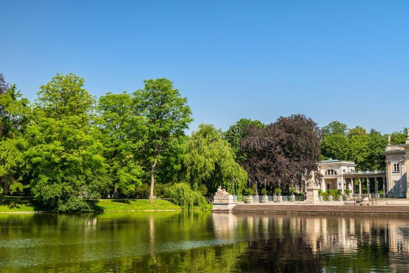 Royal Lazienki Park in Warsaw stock image