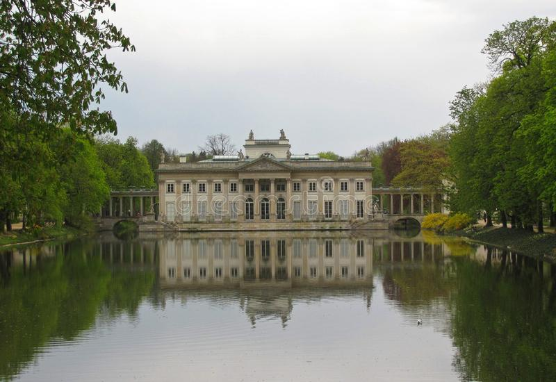 Royal Lazienki Park in Warsaw, Palace on the water, Poland royalty free stock images