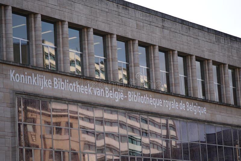 The Royal Library of Belgium. Brussels, Belgium - December 8, 2017: Bibliothèque royale de Belgique French Koninklijke Bibliotheek van België Dutch. The royalty free stock photo