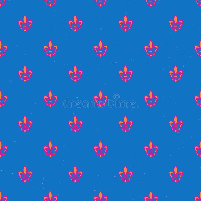 Royal lily pattern royalty free illustration