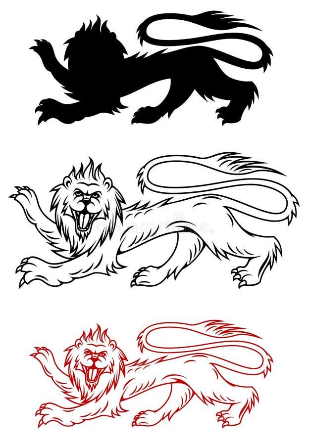 Download Royal lion stock vector. Illustration of heraldry, lion - 26317333