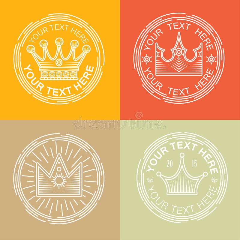Royal logos set. royalty free illustration