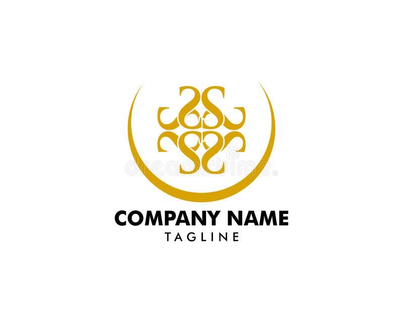 Royal Luxurious Initial S Letter Logo Design в Gold Color иллюстрация вектора