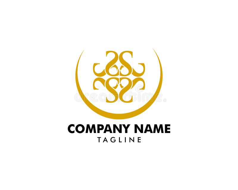 Royal Luxurious Initial S Letter Logo Design in Gold Color vector illustration