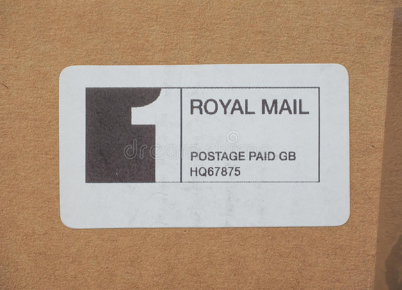 Royal Mail-betaalde port stock afbeeldingen