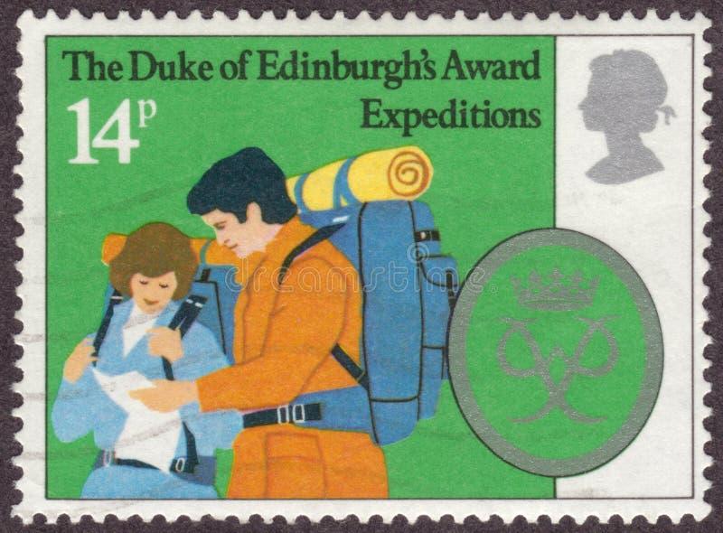 Royal Mail carimba para o duque da concessão do ` s de Edimburgo fotografia de stock royalty free