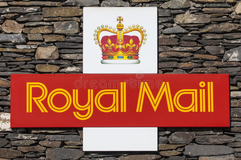 Royal Mail symbol royaltyfria bilder