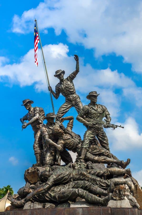 Royal Malaysia`s National Monument, Kuala Lampur, Malaysia. KUALA LAMPUR, MALAYSIA - DECEMBER 18, 2018: Royal Malaysia`s National Monument also known as Tugu stock image