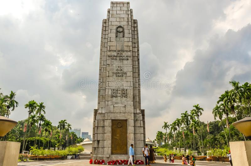 Royal Malaysia`s National Monument, Kuala Lampur, Malaysia. KUALA LAMPUR, MALAYSIA - DECEMBER 18, 2018: Royal Malaysia`s National Monument also known as Tugu royalty free stock images