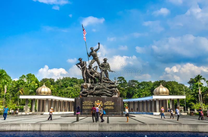 Royal Malaysia`s National Monument, Kuala Lampur, Malaysia. KUALA LAMPUR, MALAYSIA - DECEMBER 18, 2018: Royal Malaysia`s National Monument also known as Tugu stock photos