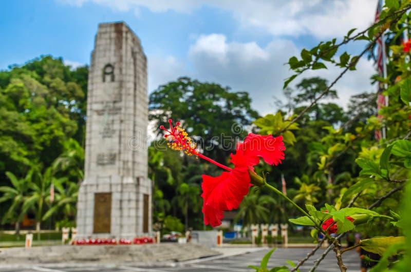 Royal Malaysia`s National Monument, Kuala Lampur, Malaysia. KUALA LAMPUR, MALAYSIA - DECEMBER 18, 2018: Royal Malaysia`s National Monument also known as Tugu stock photography