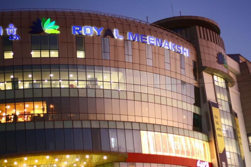 Download Royal Meenakshi Mall Exterior At Night Editorial Image - Image: 22941170