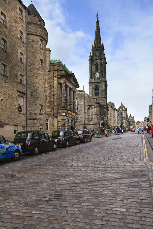 The Royal Mile in Edinburgh, Scotland royalty free stock images