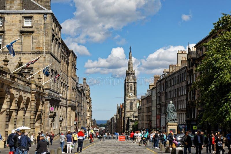 Royal Mile High Street - Edynburg, Szkocja zdjęcia stock