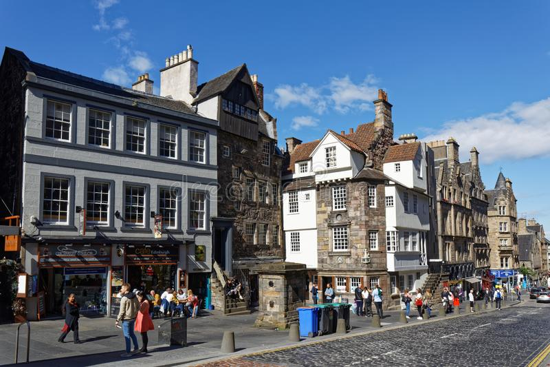 Royal Mile High Street - Edynburg, Szkocja fotografia stock