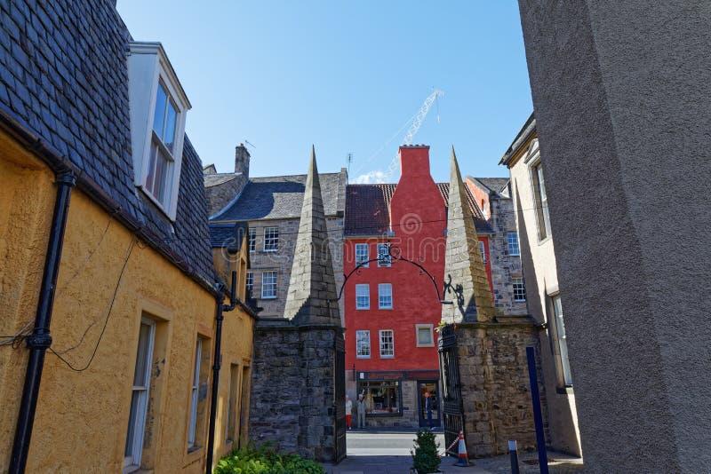 Royal Mile High Street - Edynburg, Szkocja zdjęcia royalty free