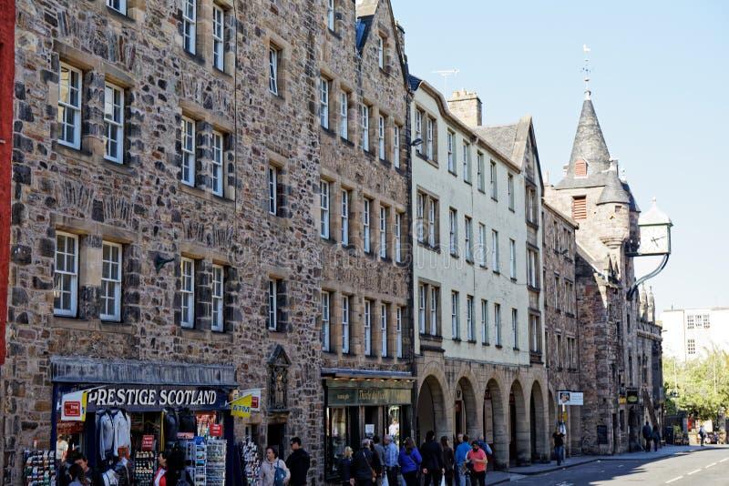 Royal Mile High Street - Edynburg, Szkocja obrazy royalty free