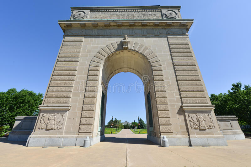 Royal Military College Memorial Arch, Kingston, Ontario royalty free stock photos